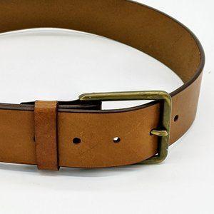 Gap Men's Brown Leather Brass Buckle Belt Size 30